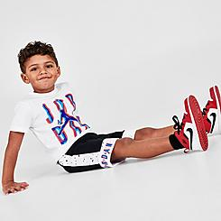 Boys' Toddler Jordan Space Glitch Jumpman T-Shirt and Shorts Set