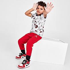 Boys' Toddler Jordan Flight AOP T-Shirt and Jogger Pants Set