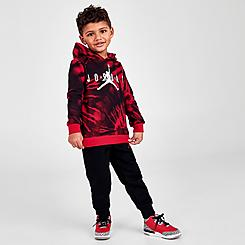 Boys' Toddler Jordan AJ6 Tie-Dye Pullover Hoodie and Jogger Pants Set