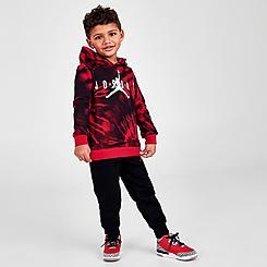 Boys' Toddler Jordan AJ6 Tie-Dye Pullover Hoodie and Jogger Pants Set