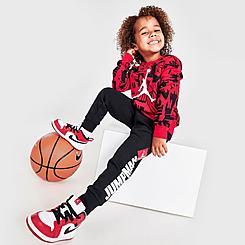 Boys' Toddler Jordan Essentials Fleece AOP Hoodie and Jogger Pants Set