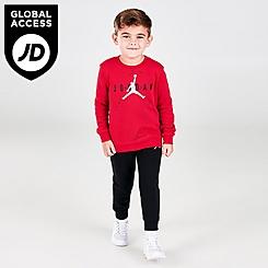 Boys' Toddler Jordan Jumpman Fleece Crewneck Sweatshirt and Jogger Pants Set