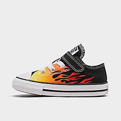Boys' Toddler Converse Chuck Taylor All Star Flame Hook-and-Loop Casual Shoes