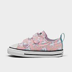Girls' Toddler Converse Chuck Taylor Unicorns 2V Hook-and-Loop Casual Shoes
