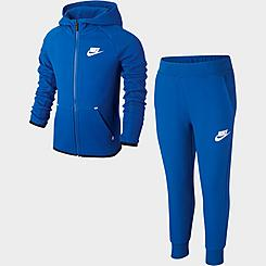 Kids' Toddler Nike Sportswear Tech Fleece Full-Zip Hoodie and Jogger Pants Set