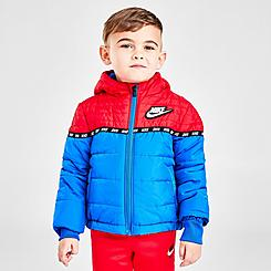 Boys' Toddler Nike Sportswear Taped Colorblock Puffer Jacket