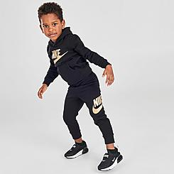 Kids' Toddler Nike Metallic Futura Logo Pullover Hoodie and Jogger Pants Set