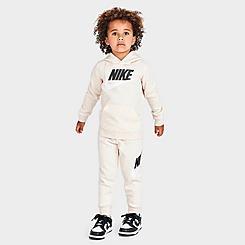 Kids' Toddler Nike Metallic Futura Logo Pullover Hoodie and Jogger Pants Set