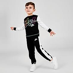 Kids' Toddler Nike See Me Futura Crewneck Sweatshirt and Jogger Pants Set