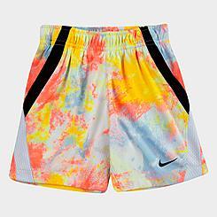 Girls' Toddler Nike Run Wild Tie-Dye Shorts