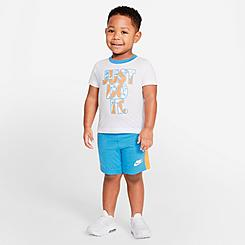 Boys' Toddler Nike Just Do It Swish Splash T-Shirt and Shorts Set
