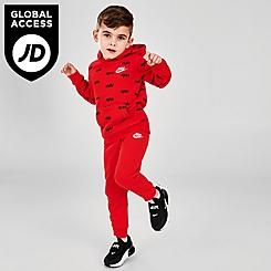 Boys' Toddler Nike AOP Pullover Hoodie and Jogger Pants Fleece Set