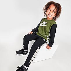 Kids' Toddler Nike Elevated Trims Crewneck Sweatshirt and Pants Set