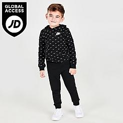 Kids' Toddler Nike Allover Print Swoosh Hoodie and Jogger Pants Set