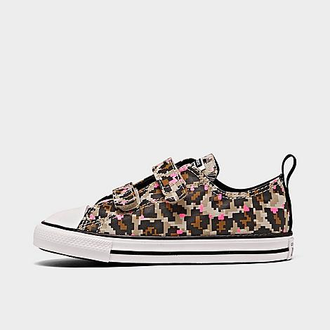 Converse CONVERSE GIRLS' TODDLER 8-BIT EASY-ON LEOPARD PRINT CHUCK TAYLOR ALL STAR CASUAL SHOES