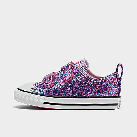 Converse Glitters CONVERSE GIRLS' TODDLER GLITTER EASY-ON CHUCK TAYLOR ALL STAR LOW TOP CASUAL SHOES