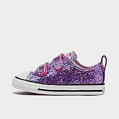 Girls' Toddler Converse Glitter Easy-On Chuck Taylor All Star Low Top Casual Shoes