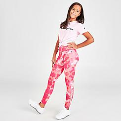 Girls' Champion Tie-Dye Signature Script Logo Leggings