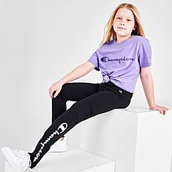 Girls' Champion Script Logo Leggings