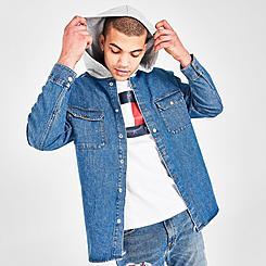 Men's Tommy Hilfiger Hooded Denim Shirt Jacket