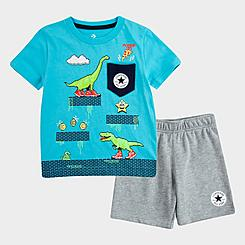 Boys' Toddler Converse Dinosaur T-Shirt and Shorts Set
