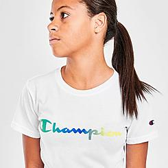Kids' Champion Gradient Script Logo T-Shirt