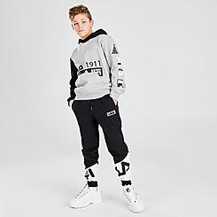 Boys' Fila Logo Colorblock Fleece Jogger Pants