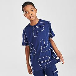 Boys' Fila Stevie Allover Print Line T-Shirt