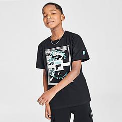 Boys' Fila Luca Logo Camo T-Shirt