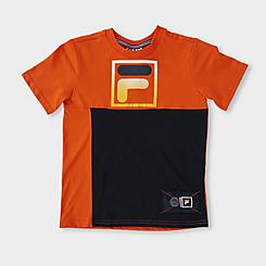 Boys' Fila Miguel Colorblock F Box Logo T-Shirt