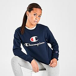 Kids' Champion Script Fleece Crewneck Sweatshirt