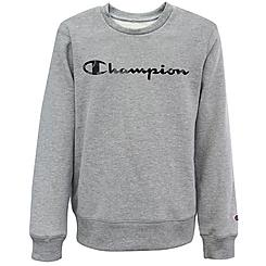 Kids' Champion Camo Script Logo Fleece Crew Sweatshirt