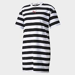 Women's Puma Summer Stripes Allover Print T-Shirt Dress