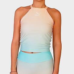 Women's Puma Gloaming Allover Print Cropped Bra Top