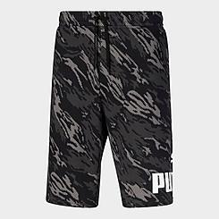 Men's Puma Camo Big Logo Fleece Shorts