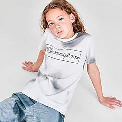 Boys' Champion Allover Print Cloud Script Box T-Shirt