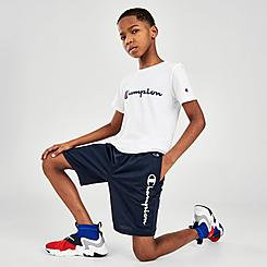 Kids' Champion Vertical Script Mesh Shorts