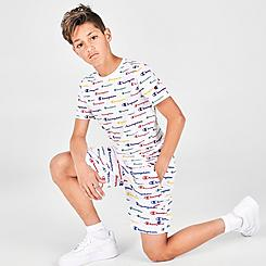 Boys' Champion AOP Multi-Script Mesh Shorts