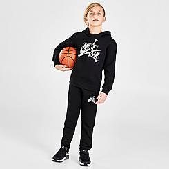 Boys' Little Kids' Jordan Jumpman Classics Iridescent Mashup Logo Pullover Hoodie and Jogger Pants Set