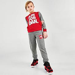 Boys' Little Kids' Jordan Jumpman Air Crewneck Sweatshirt and Jogger Pants Set