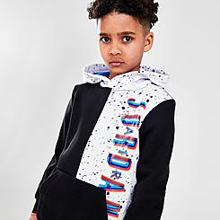 Boys' Little Kids' Jordan Space Glitch Colorblock Pullover Hoodie