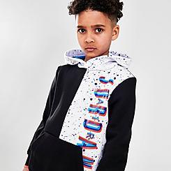Boys' Little Kids' Jordan Space Glitch Colorblock Pullover Hoodie