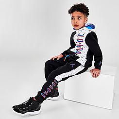 Boys' Little Kids' Jordan Space Glitch Colorblock Fleece Jogger Pants