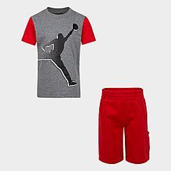 Boys' Little Kids' Jordan Jumpman T-Shirt and Cargo Shorts Set