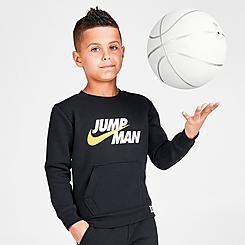 Boys' Little Kids' Jordan Jumpman by Nike Crewneck Sweatshirt