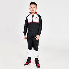 Boys' Little Kids' Jordan Air Blocked Tricot Track Jacket and Jogger Pants Set