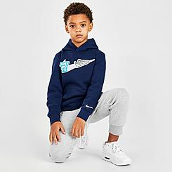 Boys' Little Kids' Nike Swoosh Patch Fleece Pullover Hoodie