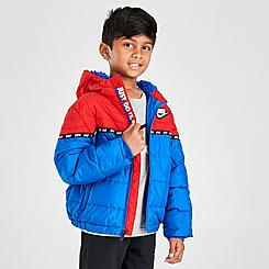 Boys' Little Kids' Nike Taped Colorblock Puffer Jacket