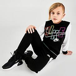 Little Kids' Nike See Me Futura Crewneck Sweatshirt and Jogger Pants Set