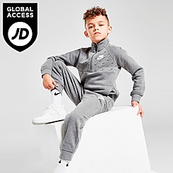 Boys' Little Kids' Nike Fleece Swoosh Half-Zip Pullover and Jogger Pants Set
